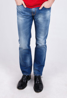 Slim Fit - Jeans - Blue Washed - Whisker
