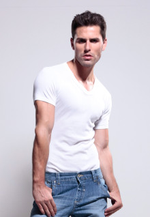 LGS Underwear - White - VNeck - 1 Pcs