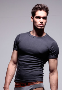 LGS Underwear - Dark Gray - Round Neck - 1 Pcs