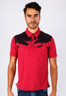 Slim Fit - Kaos Polo - Merah - Bird