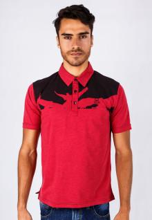 Slim Fit - Kaos Polo - Merah - Bird