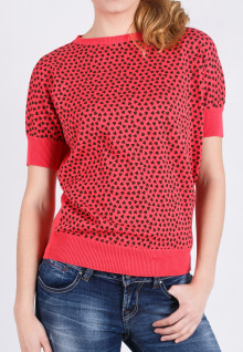 Regular Fit - Kaos Wanita - Merah - Polkadot