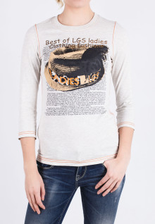 Regular Fit - Ladies T-Shirt - White - Printed Tee