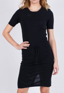 Regular Fit - Ladies T-Shirt - Black - Long Dress