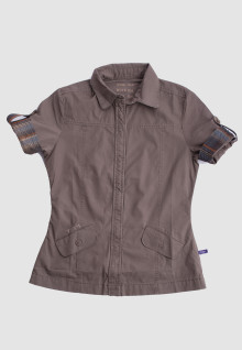 Regular Fit - Ladies Shirt - Brown - Classic