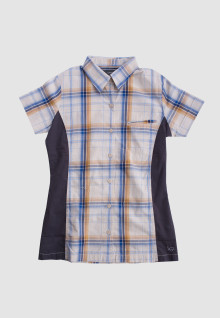 Regular Fit - Ladies Shirt - White - Plaid Shirt