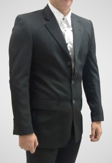Regular Fit - Formal Suits - Black - Single Vent