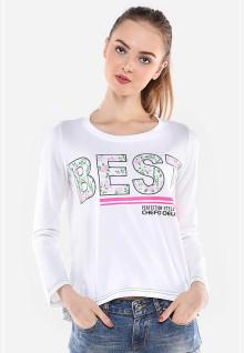 Regular Fit - Kaos Wanita - Putih - Best Ladies