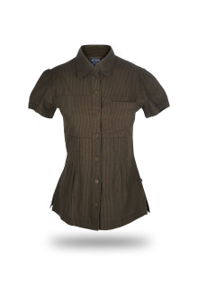 Regular Fit - Wangki - Dark Brown - Salur T-Shirt