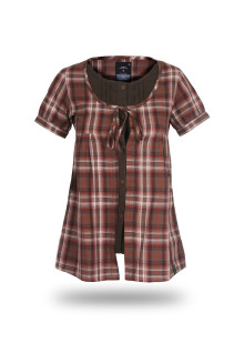 Regular Fit - Ladies Shirt - Red Brown - Fashion