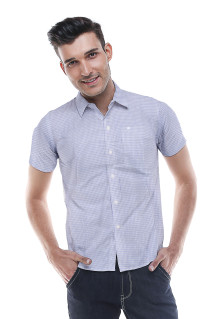 Regular Fit - Formal Shirt - Blue - Gingham