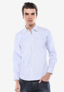 Slim Fit - Formal Shirt - White/Blue - Salur