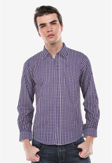 Slim Fit - Kemeja Formal - Biru - Gingham Shirt