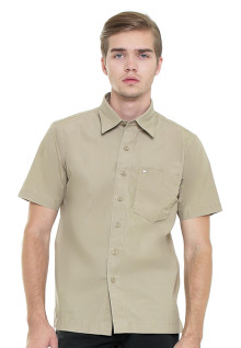 Regular Fit - Kemeja Casual - Coklat Muda - Basic