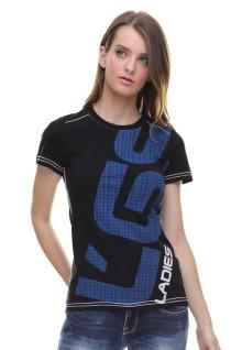 Regular Fit - Kaos Wanita - Ladies Logo - Hitam