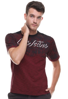 Slim Fit - Kaos Fashion - Logo LGS Jeans - Merah