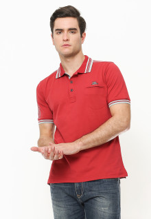 Regular Fit - Polo Shirt - Rubber Cuff - Merah