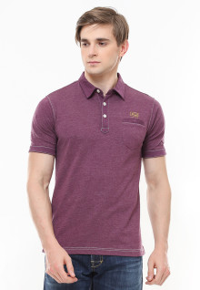 Slim Fit - Polo Casual - Kancing Tiga - Merah