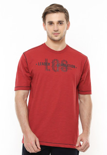 Regular Fit - Kaos Casual - Gambar Sablon - Merah