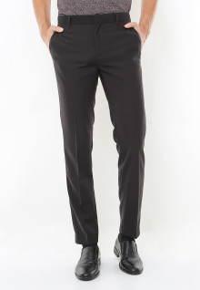 Slim Fit - Celana Formal - Coffee