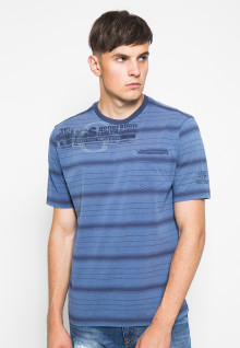 Kaos Fashion - Motif Garis - Biru