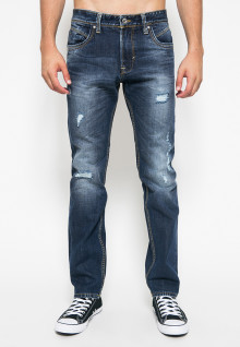Celana Jeans - Ripped - Dark Blue