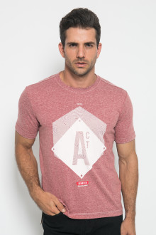 Slim Fit - Kaos Casual - ACT - Merah