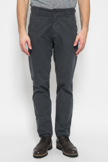 Regular Chinos - Double Back Pocket - Abu Gelap