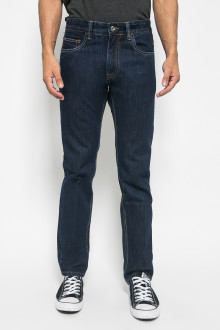 Celana Slim Fit Navy Jeans Washed Pria