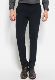 Slim Fit - Celana Formal - double Pockets - Hitam