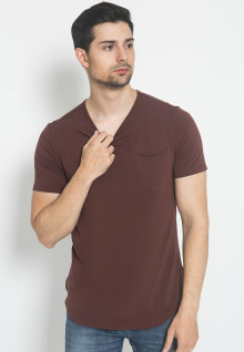 The One - Round Neck Kantong - Coklat