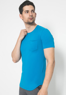 The One - Round Neck Kantong - Biru Muda