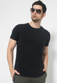 The One - Round Neck Kantong - Hitam