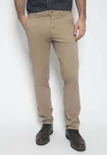 Celana Panjang Katun - Warna Khakis - Double Back Pocket - Celana Chinos