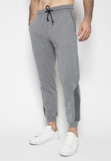 Celana Jogger - Warna Grey - Double Back Pocket