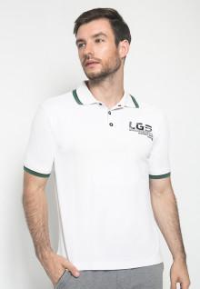Kaos Fashion - Warna Putih - Lengan Pendek - Kaos Polo