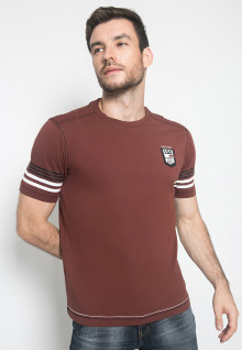 Kaos Fashion - Warna Coklat - Lengan Pendek
