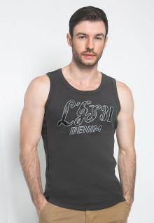 Kaos Oblong - Warna Hitam - Tank Top