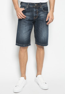 Jeans Pendek - Style Full Washed - Navy