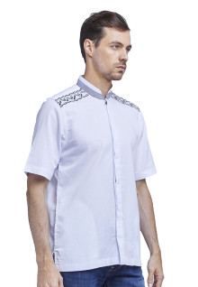 XXL - LGS - Baju Koko - Double Under Pocket - Putih