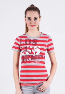 Regular Fit - Ladies T-Shirt - Gray - Motif Salur