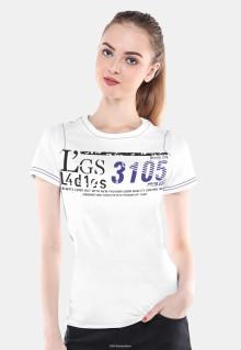 Slim Fit - Kaos Wanita - Putih - Sablon Tulisan
