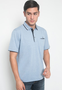 Regular Fit - Kaos Polo - LGS - Warna Biru - Motif Polos
