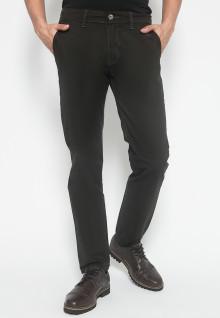 Slim Fit - Celana Chinos - Celana Casual - Polos - Coklat