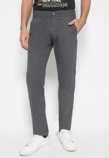 CELANA CHINOS - CELANA CASUAL -DOUBLE POCKET - ABU GELAP
