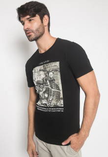 Slim FIt - Youth Boy - Kaos - LGS - Hitam - Gambar Sablon Motor