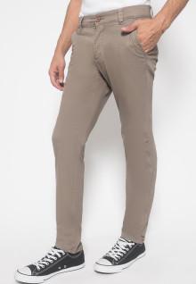Celana Chinos - Celana Panjang - Polos - Coklat Muda