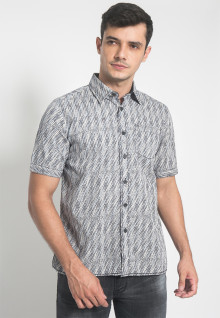 Regular Fit - Kemeja Casual - Motif Abstrak