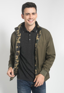 Jaket Casual - Army - 2 Side Jacket - Coklat