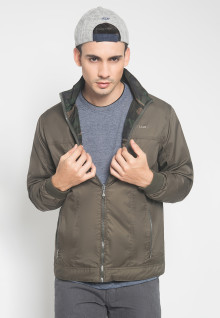 Jaket Casual - Army - 2 Side Jacket - Warna Coklat
